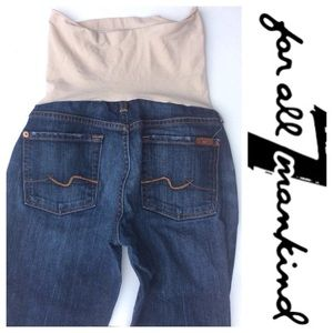 7 For All Mankind Denim - 7 for all Mankind Maternity Jeans 28 short hem