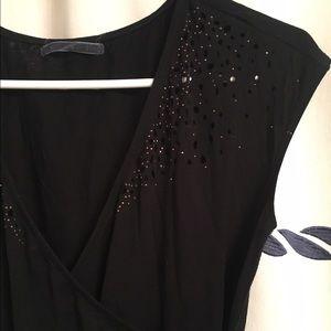 Velvet Tops - Black embellished top