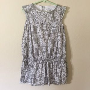 Jean Bourget Other - Jean Bourget Gray & White Drop Waist Dress Sz 5A