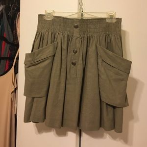 Army Green Skirt!
