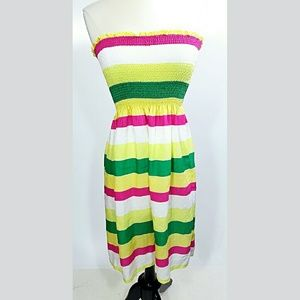 Zara Dresses & Skirts - Zara Strapless Boho Rayon and Silk Dress