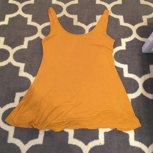 Mustard flowy long tank/dress