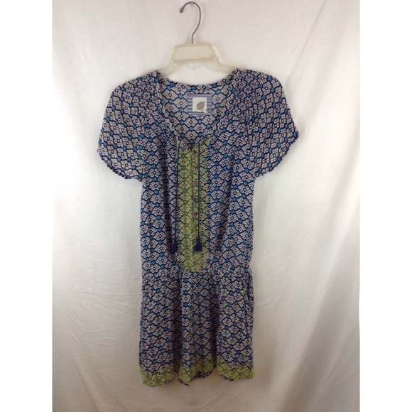 Anthropologie Other - ANTHROPOLOGIE long weekend green+blue print romper