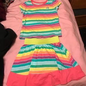 Other - Children's Place matching shirt and skirt set