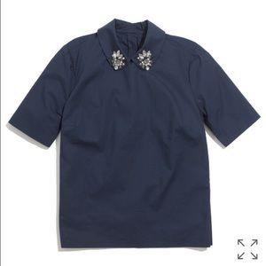 Madewell gem collar top
