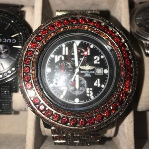 breitling  Other - Breitling Custom Red Ruby Chronograph