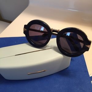 Karen Walker Accessories - Karen Walker navy blue maze sunglasses