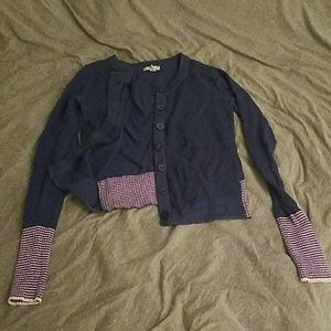 Blue and pink fun Delia's cardigan