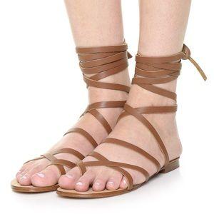 Splendid Shoes - Splendid Lace Up Leather Gladiator Sandals