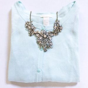 T&J Designs Luxe Crystal Bow Statement Necklace