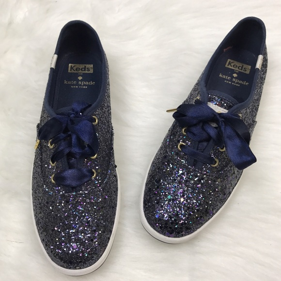 568f9537c582 kate spade Shoes - [Keds x Kate Spade] Champion Glitter Sneakers Navy