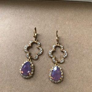 Catherine Popesco Jewelry - 14.Lavender/crystal earrings/N.W.O.T.