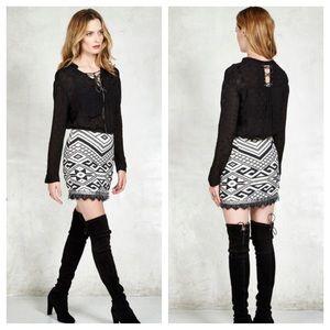 NWT Gypsy 05 Geo Beaded Mini Skirt