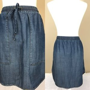 NWT anthropologie cloth and stone chambray skirt