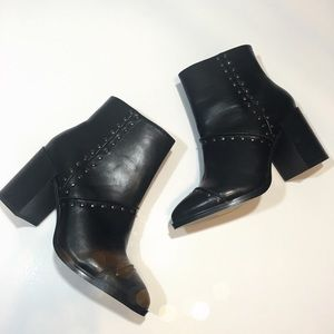 Report Shoes - Report Vegan Leather Studded Ankle Booties