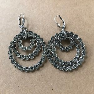 Catherine Popesco Jewelry - 17. Triple Circle Earrings & Swarovski Crystals