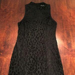ASTR Dresses & Skirts - ASTR Velvet Leopard High Neck Mini Bodycon Dress