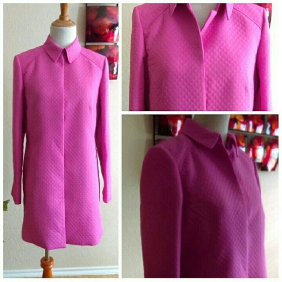 Liz Claiborne Jackets & Blazers - HP ⬇LizClaiborne Bright Pink Weaved Trench Coat