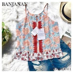 BANJANAN Tops - NWT BANJANAN SILK TOP