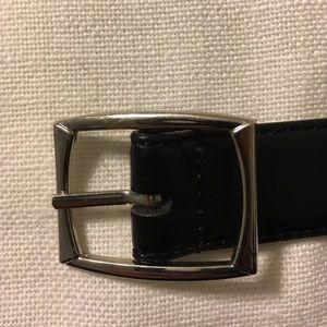 Accessories - Men's black belt.