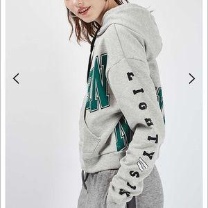 Topshop Sweaters - Grey Topshop New York Hoodie