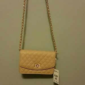 Urban Expressions Handbags - Urban Expressions quilted tan purse