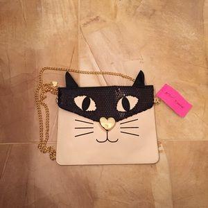 SALE Betsey Johnson Cat Crossbody Bag