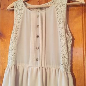 Dresses & Skirts - Neutral lace dress