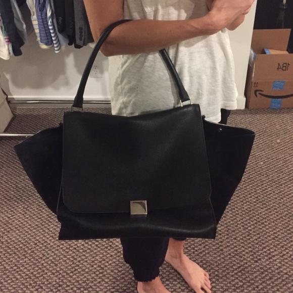 68761c2b84a35 Celine Handbags - Celine XL black Trapeze Bag $3000 retail!