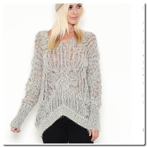 Sweaters - V- Back Loose Knit Sweater