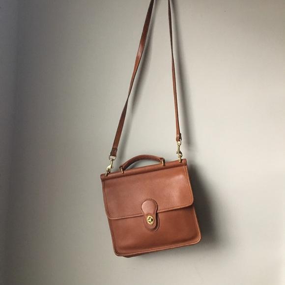 ed1cc0b406 Coach Handbags - Vintage Coach Willis Bag in British Tan 9927