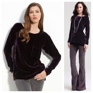THEORY Tehya Crushed Velvet Top
