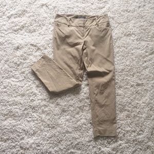 The Limited Exact Stretch tan khaki Cropped Pants