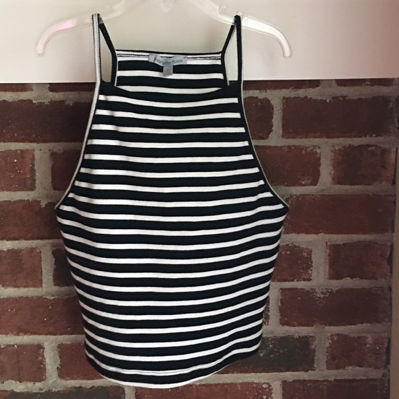 f3d7dd93c58 Charlotte Russe Tops | Ribbed Knit Striped Crop Top | Poshmark