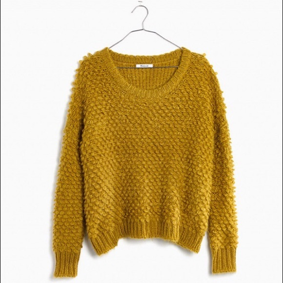 f77b296e7f0a9 Madewell Popstitch Pullover - Crushed Chartreuse