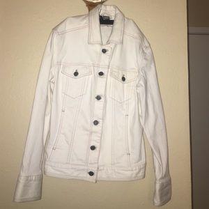 Eddie Bauer Jackets & Blazers - white denim - preowned made in sri lanka