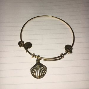 Alex & ani gold seashell bracelet