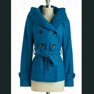 New Modcloth Blue pea coat