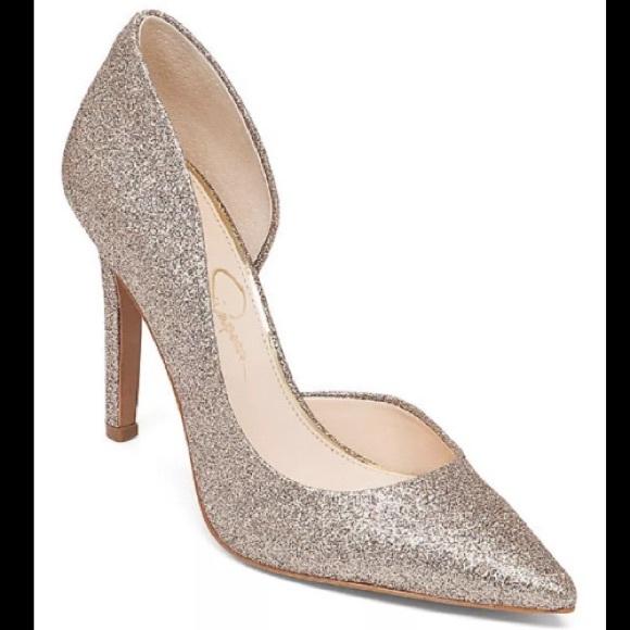 a9f4766e91a Jessica Simpson Shoes - Jessica Simpson glitter heels pointy toe