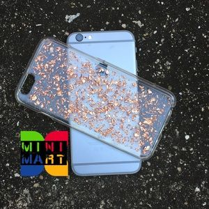 RoseGold flakes iPhone 5/5s/6/6s/6+ case