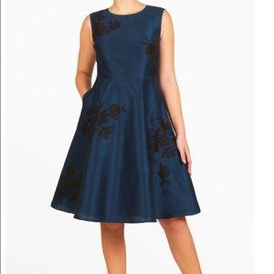 Eshakti Dupioni Embellished Dress