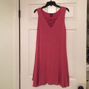 lace up front dress