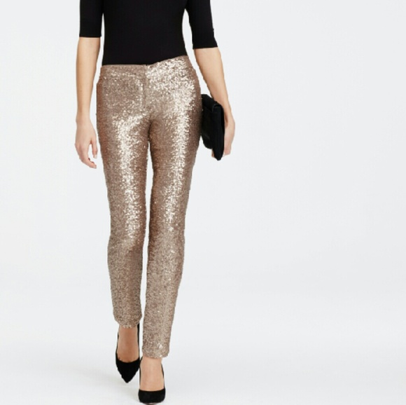 bed8bea3718bc Gianni Bini Pants | Rose Gold Sequin Leggings | Poshmark