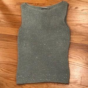 Anne Klein Beaded Sweater Tank