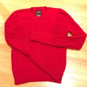 100% Cashmere Double Ply Cableknit Sweater