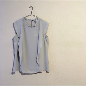 Worthington Tops - Dusty Gray blue Blouse