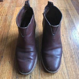 Rachel Comey Shoes - Rachel Comey Burgundy 'Mars' Ankle Boots Size 6.5