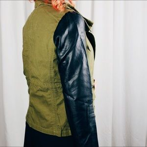 Jackets & Coats - Olive and Black Moto Jacket