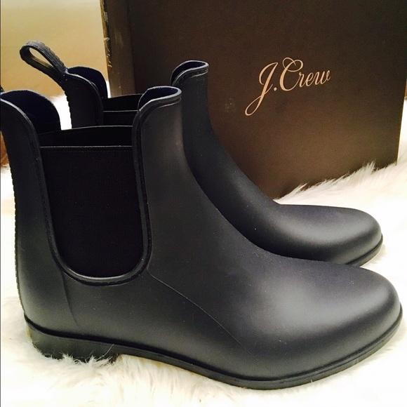 bf7d36b867a52 J. Crew Shoes | Jcrew Matte Chelsea Rain Boots | Poshmark