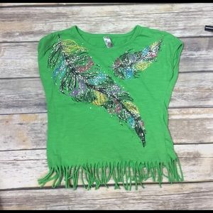 Knitworks Other - 💜size XL (16) KnitWorks sparkle & fringe tee
